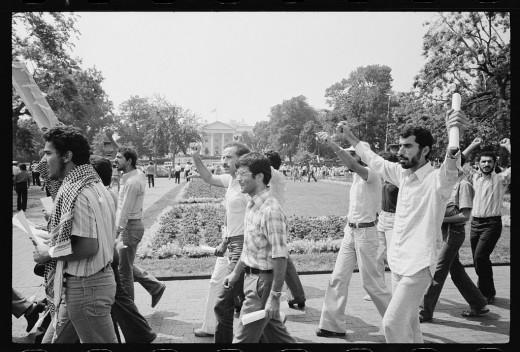 Islamic protestors in Washington, DC