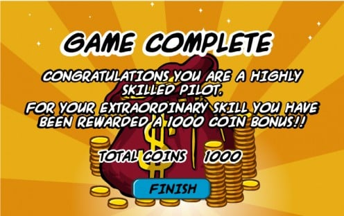 It's true! 1000 coins for avoiding everything in Jetpack Adventure