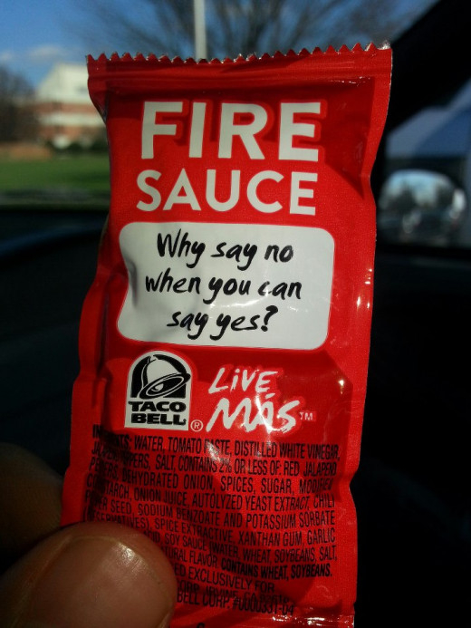 The dream job: writing Taco Bell hot sauce slogans.