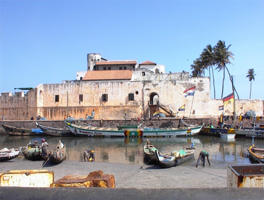 The Portuguese-built Elmina Castle was purchased by Britain in 1873. Also known as St. George Castle, it is now a World Heritage Site