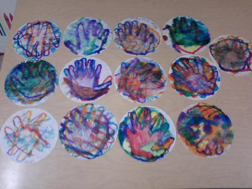 5th grade hands, primary and secondary colors