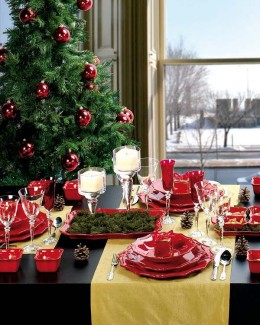 Get an inspired design for the Christmas season that displays the tone, mood and decorative delight of holiday colors. Use ornaments, candles, table settings and home accents that fill your home spaces with Christmas elegance.