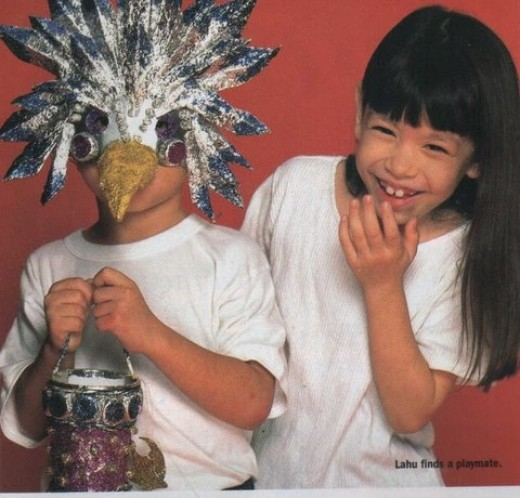 This came out in a local magazine, the Philippine edition of Good Housekeeping. Kat was asked to model masks for halloween.