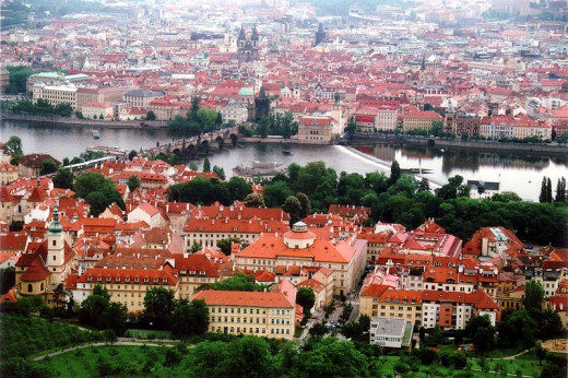 This photograph of Old Town in Prague, Czech Republic was taken by Petritap on May 15, 2008.
