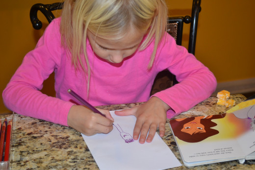 Art time during indoor family games