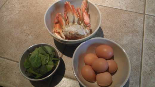Add precooked and cleaned fresh crab, be sure to shell first!