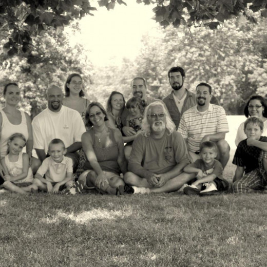 My entire immediate family as of April 2011