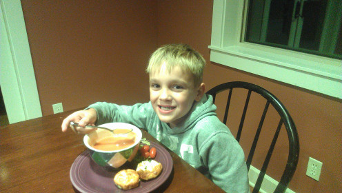 My son loves crab and spinach mini quiche