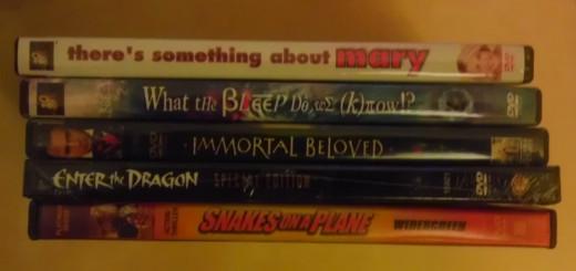 A pile of random movies
