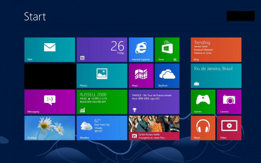 Navigate to the Windows 8 Start screen, then connect the external monitor to one of your Windows 8 computer's video inputs.