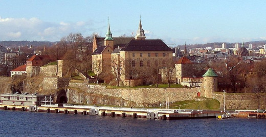 Akershus Fortress was photographed by Tomasz G. Sienicki on April 13, 2005.