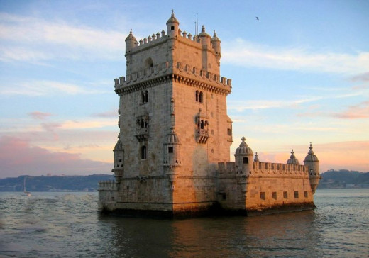 Belem Tower in Lisbon, Portugal was photographed by Cris on December 26, 2003.