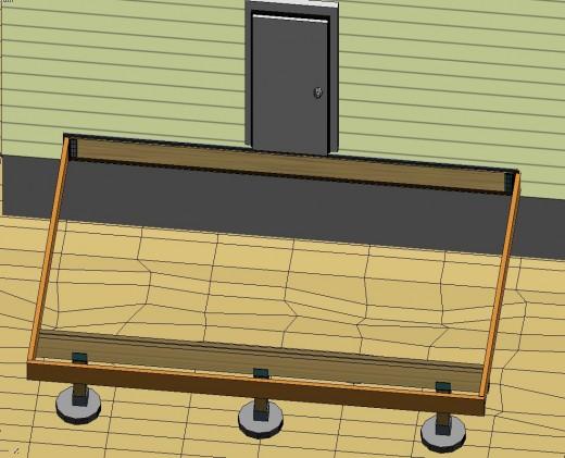 Fig 5.  Header joist attached