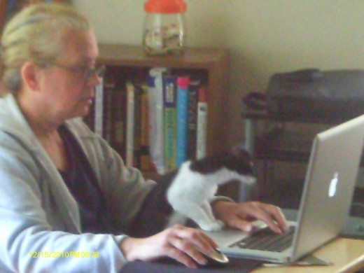 Author and Hubchallenger during the marathon: 30 hubs in 30 days.  An interested critic edits as I write.