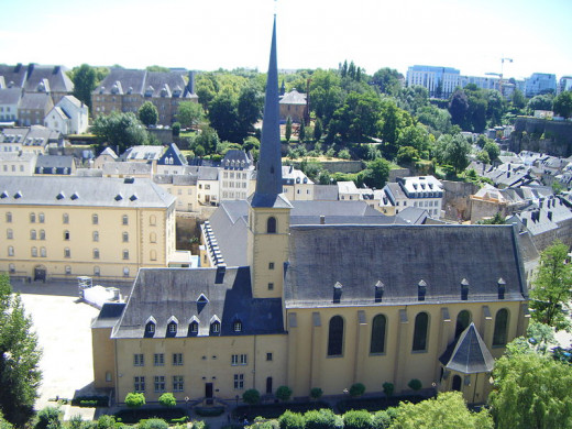Neumünster Abbey—a former abbey, and now a cultural center and meeting place in Luxembourg City, Luxembourg—was photographed by Philip Serracino Inglott on June 30, 2008.