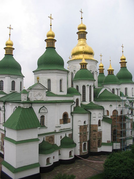 Saint Sophia Cathedral in Kiev, Ukraine was photographed on June 20, 2006.