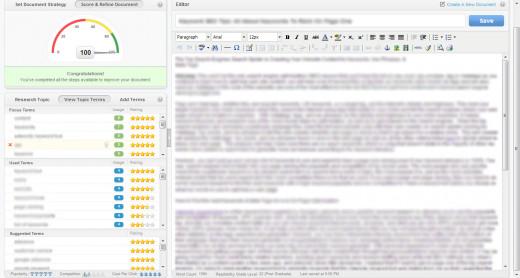 Inbound Writer's keyword generator / keyword density checker