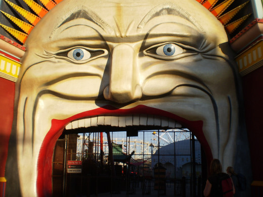 Unfortunately, Luna Park was closed the day we visited.