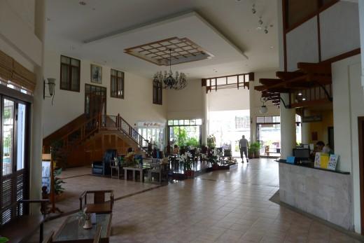 Nice big airy lobby.