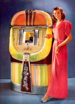 "This ad for a AMI jukebox shows that sex and new ways of social living were here brought by the new ""Jukebox music scene"""