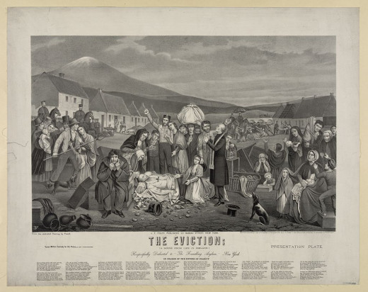 An 1840s eviction in Ireland