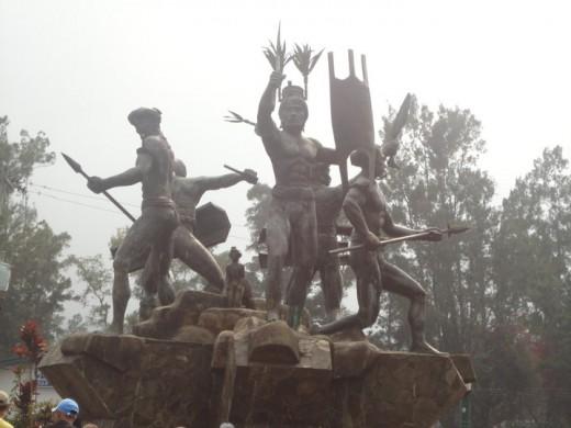 A statue at Burnham Park