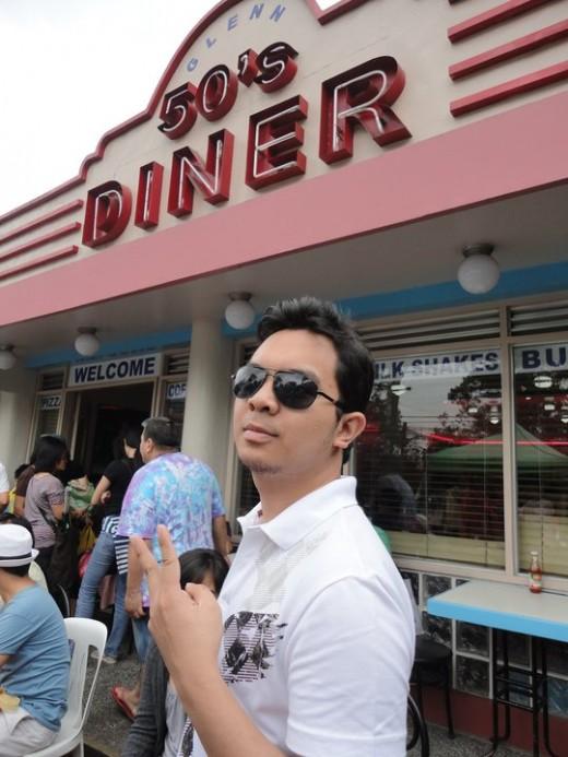 Facade of 50s Diner