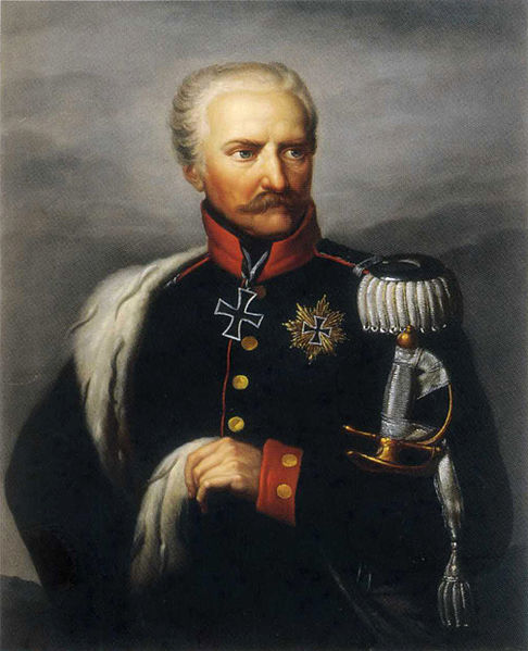Gebhard Leberecht von Blucher, the commander of the Prussian army, who had already defeated Napoleon once before at the Battle of Leipzig two years before.