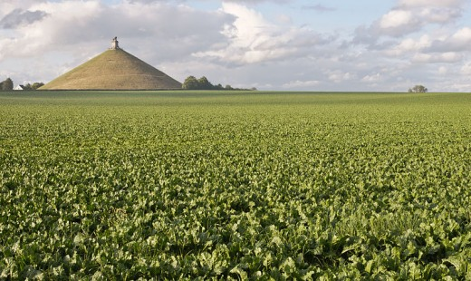 The famous Morne Plaine and Lions Mound as described once by Victor Hugo. The Lions Mound still overlooks the battle site today in Braine-l'Alleud, Belgium.