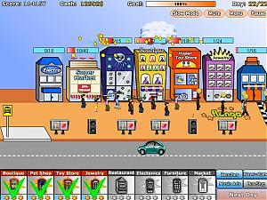 A screenshot of the shopping tycoon game that will have you addicted!