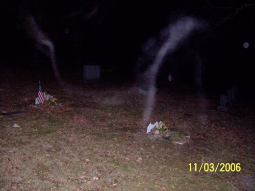 Haunted cemetaries can produce more than spirit lights - spirit attachment has also occurred.