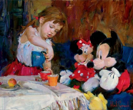Teatime with Mickey and Minnie