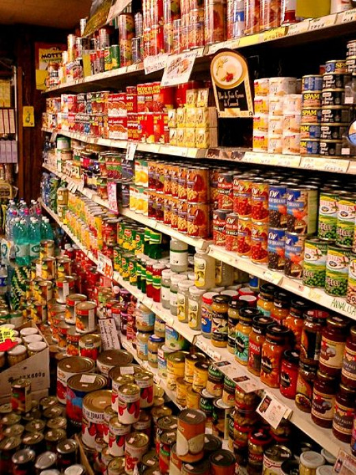 Canned goods have a long shelf life and can be used after the emergency passes