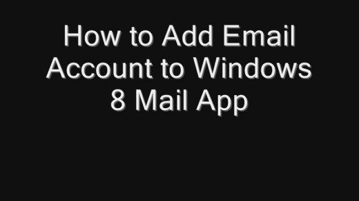 how to add email account to windows 8