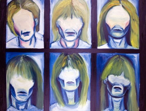 6 Faces. Oil on canvas. From Supermodels Series 2008