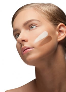 Woman Applying Foundation