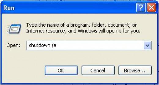 Type Shutdown /a in case you want to cancel the Shutdown process