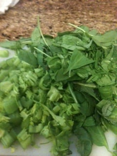 Lots of greens for taste and goo health