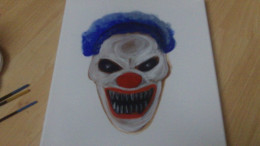 Darker blue and white highlights on the Clown Wig.
