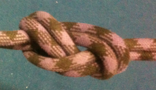 "A nicely dressed figure eight knot. It is easy to tell that it is correct, but it's not ""better"" or ""stronger"" because it is neat."