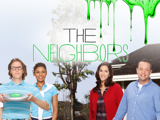The promo poster for The Neighbors.