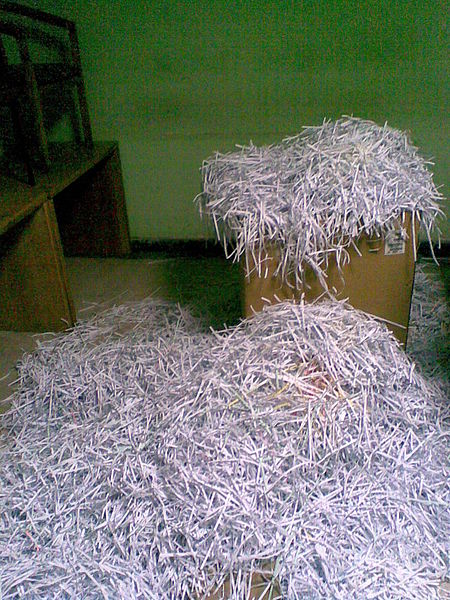 Shredding paper is a valuable way to protect personal information