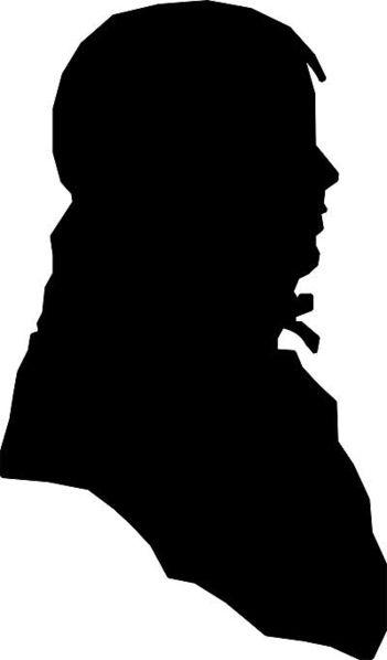 A silhouette of Jack Jouett, made by his son Matthew Harris Jouett.