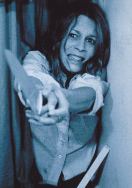 "Jamie Lee Curtis as Laurie Strode. During the slasher boom of the early '80s, many films copied  elements from the original ""Halloween"", including the concept of a ""Final Girl"" who confronts and defeats the killer."
