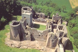 Goodrich Castle from the air