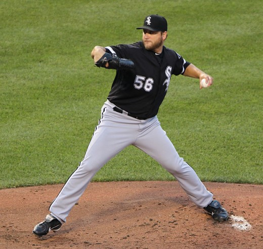 Mark Buehrle when he was a White Sox pitcher