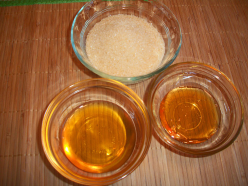 Raw Sugar, Agave Nectar and Honey