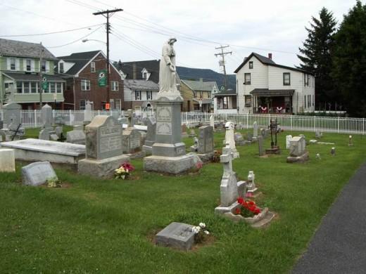 Cemetery at Mt Carmel Church in Roseto, Pa