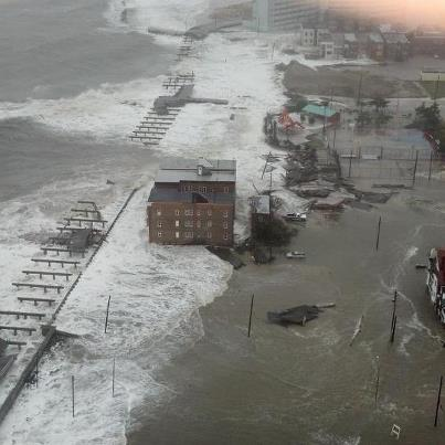 THIS PHOTO IS SOUTH OF LONG BEACH ISLAND IN ATLANTIC CITY. BOARDWALKS TOTALLY WASHED OUT TO SEA.