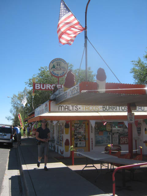 Snow Cap Drive-in, Route 66 in Seligman, AZ